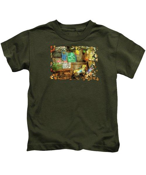 Warning Building Unsafe Kids T-Shirt