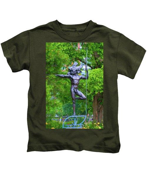 Warrior Guarding Battery Park Kids T-Shirt