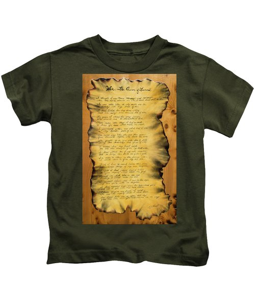 War's Poem Kids T-Shirt
