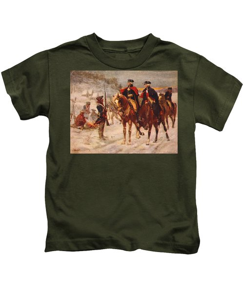 Washington And Lafayette At Valley Forge Kids T-Shirt