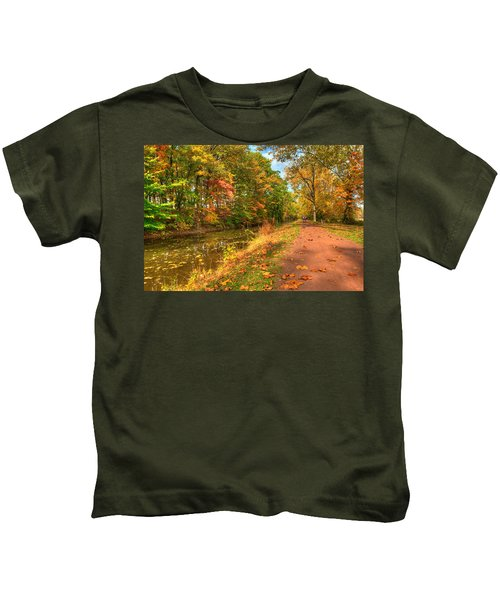 Kids T-Shirt featuring the photograph Washington Crossing Park by William Jobes
