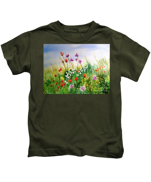 Washington Wildflowers Kids T-Shirt