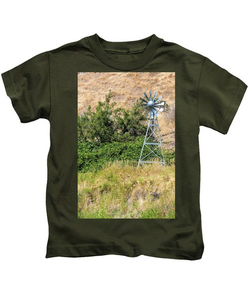 Water Aerating Windmill For Ponds And Lakes Kids T-Shirt