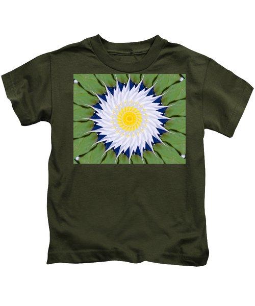 Water Lily Kaleidoscope Kids T-Shirt