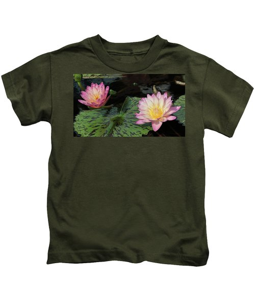 Water Lily Pair Kids T-Shirt