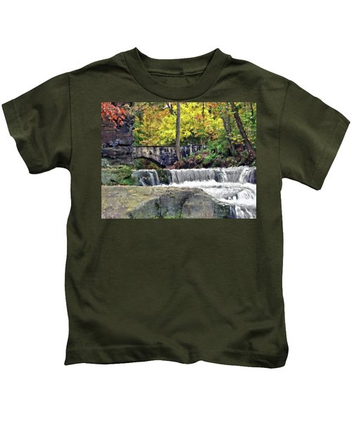 Waterfall At Olmsted Falls - 1 Kids T-Shirt