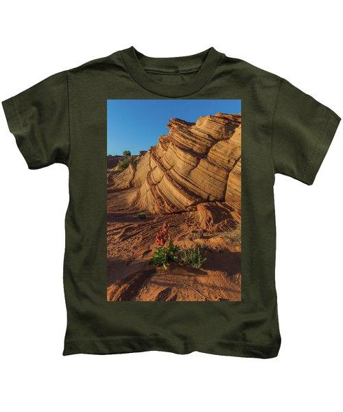 Waterhole Canyon Evening Solitude Kids T-Shirt