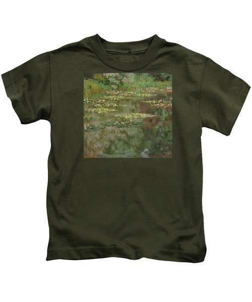 Waterlilies Or The Water Lily Pond Kids T-Shirt