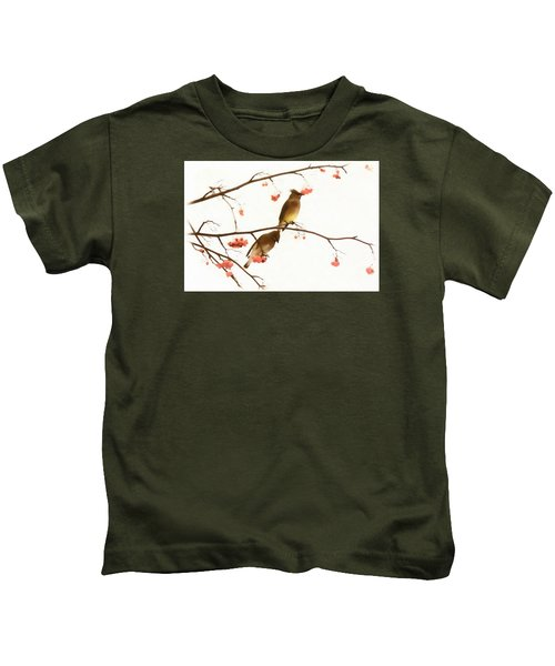 Waxwing Wonders Kids T-Shirt