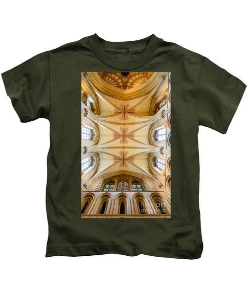 Wells Cathedral Ceiling Kids T-Shirt