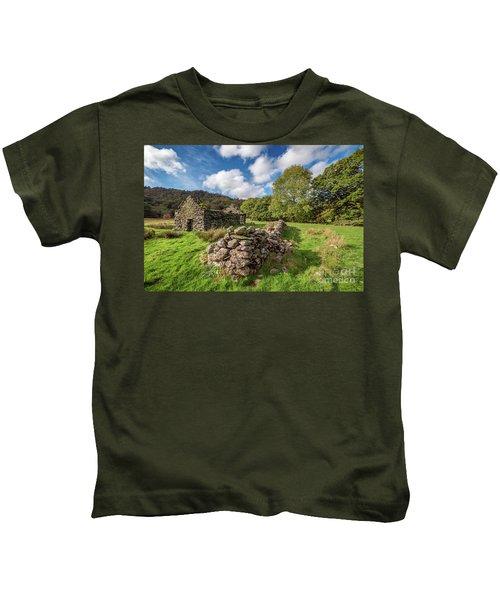 Welsh Cottage Ruin Kids T-Shirt