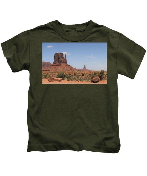 West Mitten Butte Monument Valley Kids T-Shirt