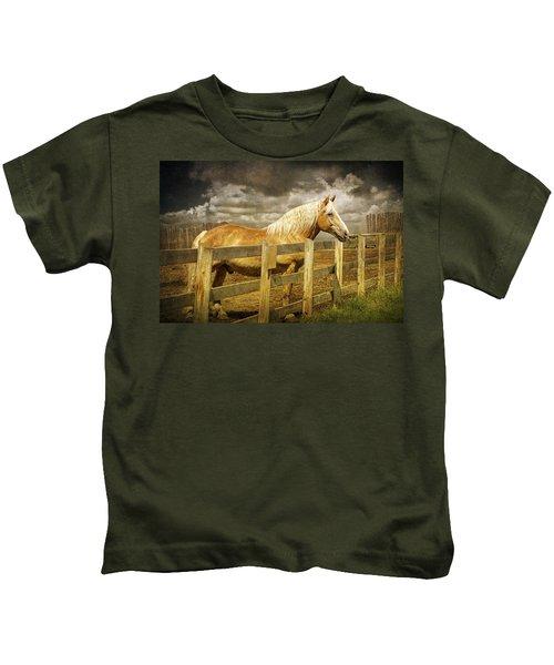 Western Horse In Alberta Canada Kids T-Shirt