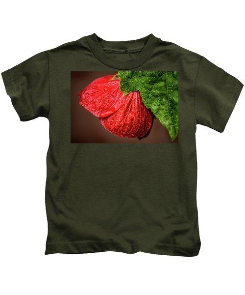 Wet Flower-abutilon Kids T-Shirt