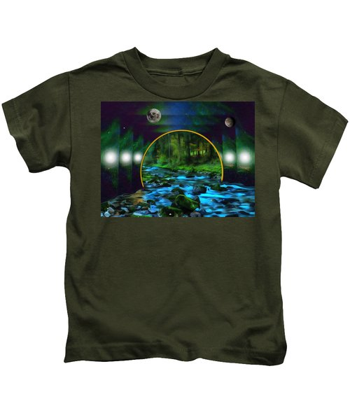 Whare Peaceful Waters Flow Kids T-Shirt