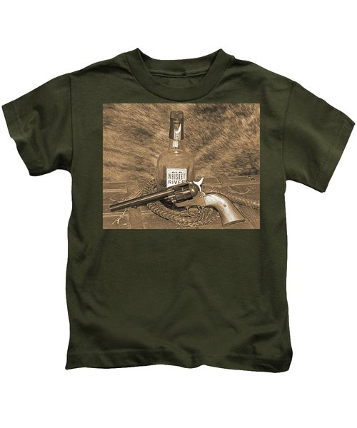 Whiskey And A Gun Kids T-Shirt
