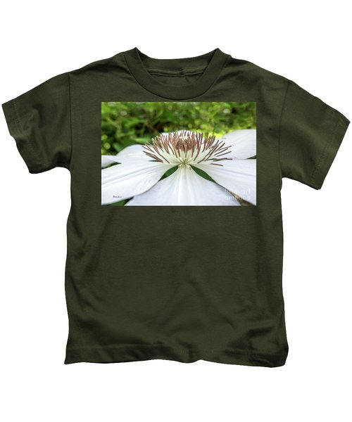 White Clematis Flower Garden 50146 Kids T-Shirt