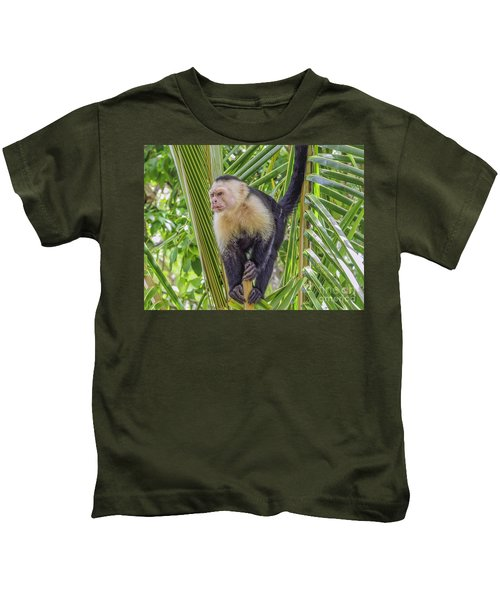 White Faced Monkey In A Tree Kids T-Shirt