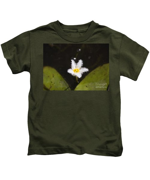 White Fringe Lily Kids T-Shirt