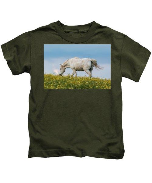White Horse Of Cataloochee Ranch 2 - May 30 2017 Kids T-Shirt