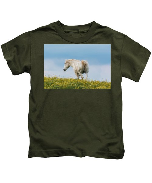 White Horse Of Cataloochee Ranch - May 30 2017 Kids T-Shirt