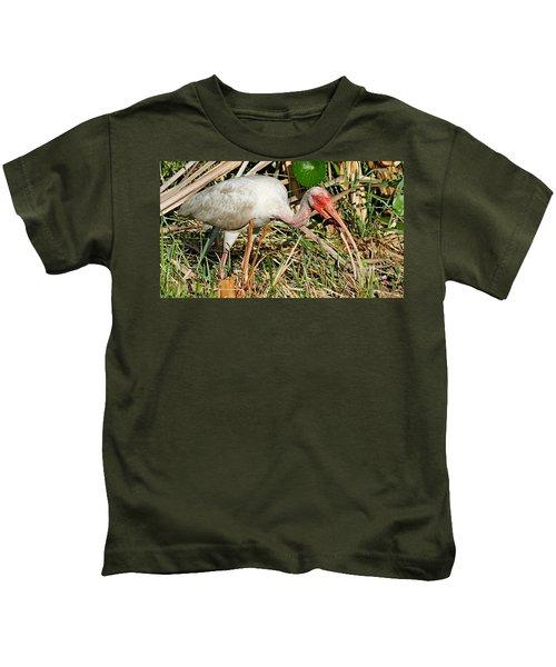 White Ibis With Crayfish Kids T-Shirt