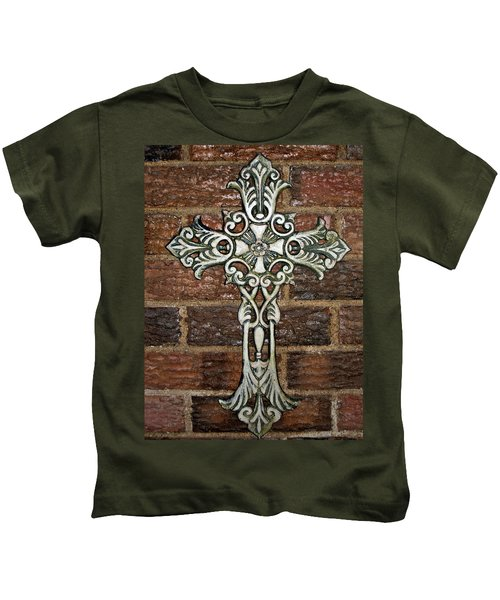 White Iron Cross 1 Kids T-Shirt