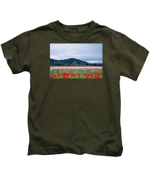White Pass Highway With Tulips Kids T-Shirt