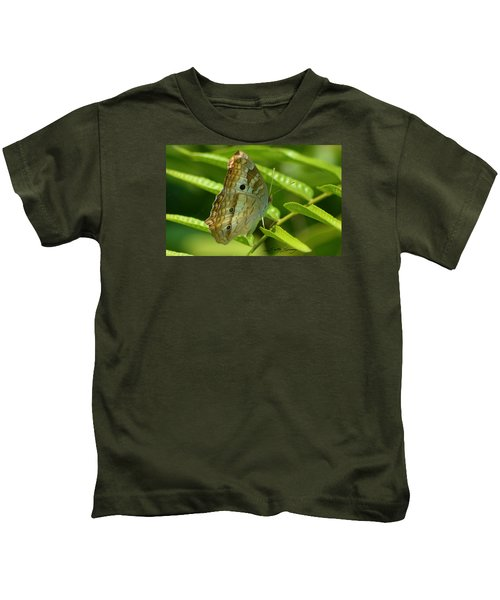 White Peacock Butterfly 2 Kids T-Shirt