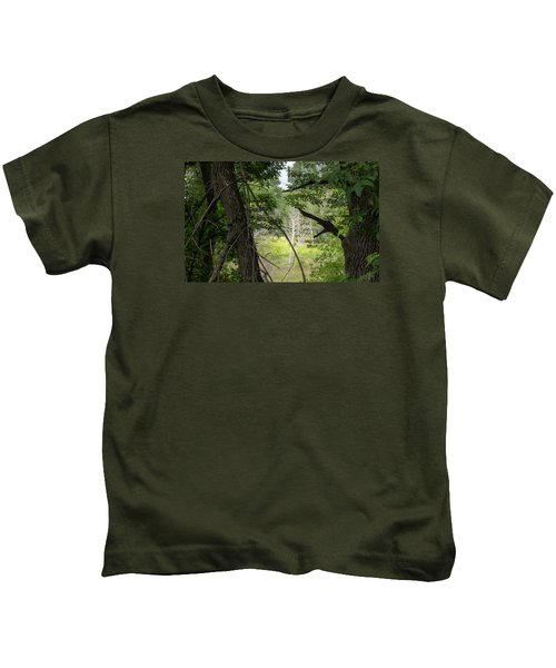 White Tree In Magic Forest Kids T-Shirt