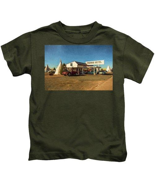 Wigwam Motel Kids T-Shirt