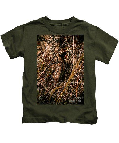 Wild Australian Blue Tongue Lizard Kids T-Shirt