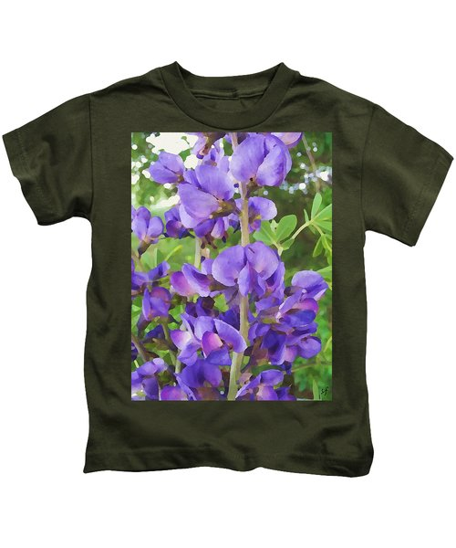 Wild Blue False Indigo Kids T-Shirt