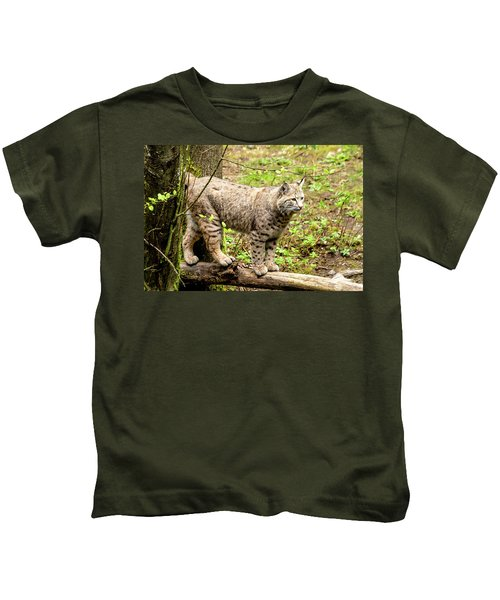 Wild Bobcat Kids T-Shirt