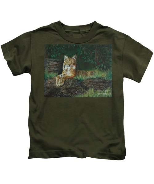 The Ever Watchful Lynx Kids T-Shirt