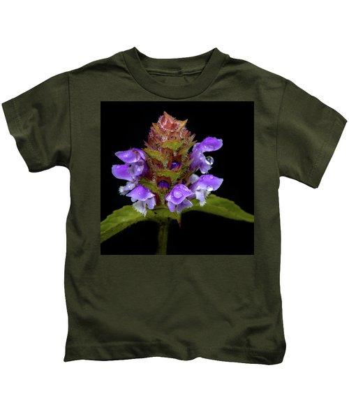 Wild Flower Portrait Kids T-Shirt