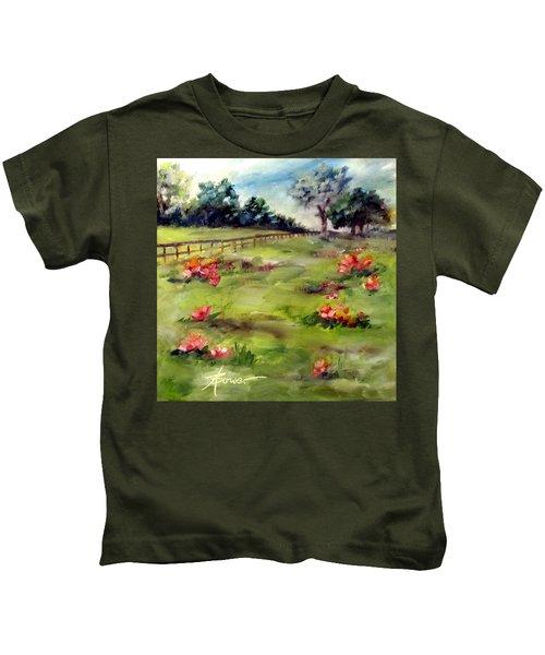 Texas Wild Flower Road Trip  Kids T-Shirt