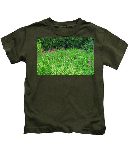 Wild Flowers And Shrubs In Vogelsberg Kids T-Shirt