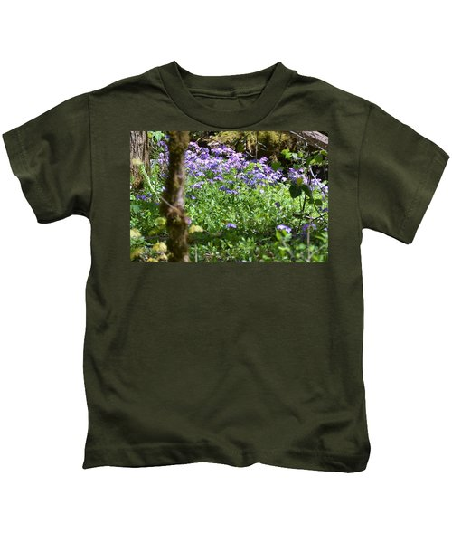 Wild Flowers On A Hike Kids T-Shirt