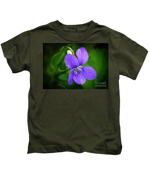 Wild Violet Flower Kids T-Shirt