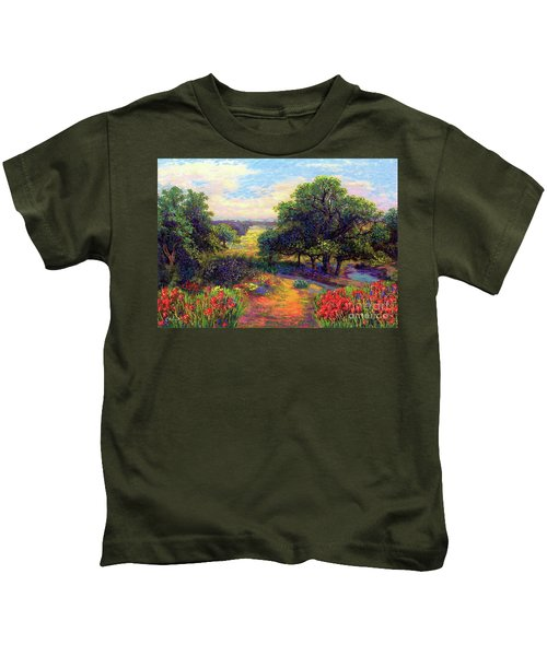 Wildflower Meadows Of Color And Joy Kids T-Shirt