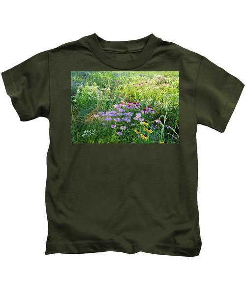 Wildflowers In Moraine Hills State Park Kids T-Shirt