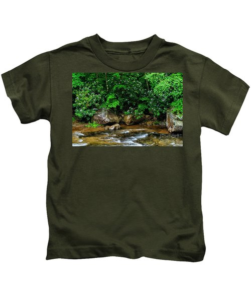 Williams River And Rhododdendron Kids T-Shirt