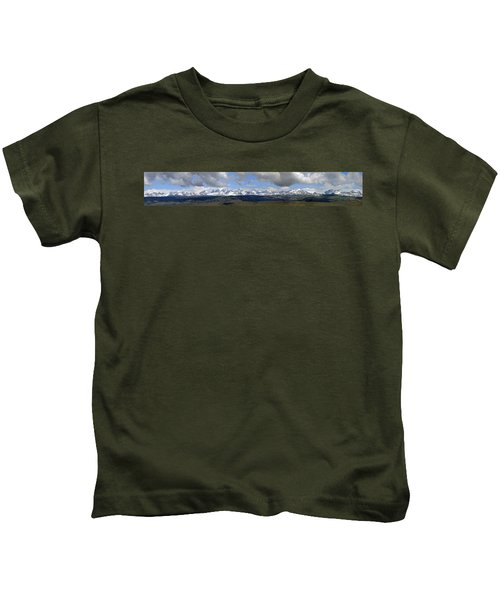 Dm9504-wind River Range Panorama  Kids T-Shirt