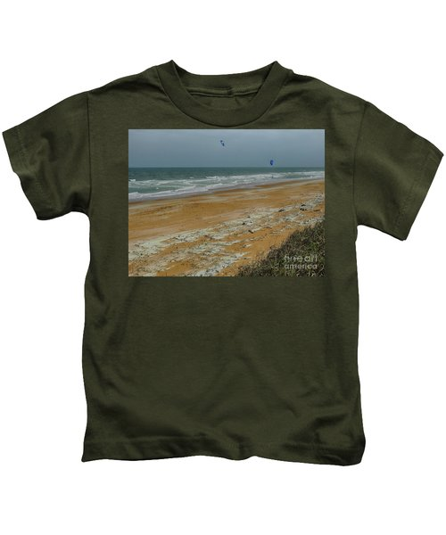 Wind Surfing In Flagler Kids T-Shirt