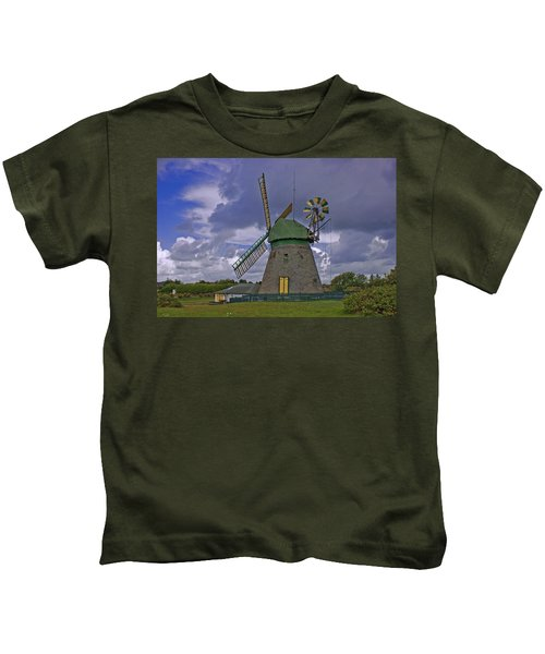Windmill Amrum Germany Kids T-Shirt