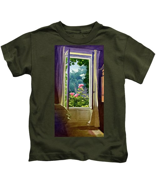 Window At Clermont Kids T-Shirt