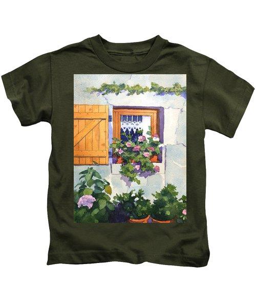 Window At St Saturnin Kids T-Shirt