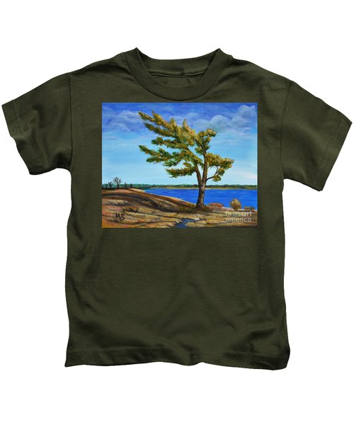 Windswept Tree Kids T-Shirt