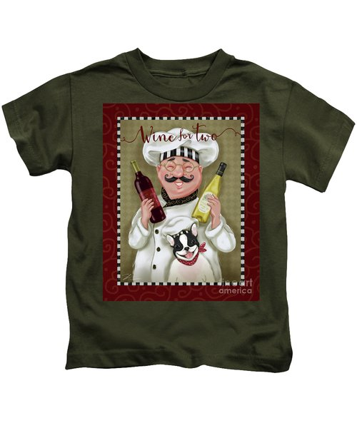 Wine Chef-wine For Two Kids T-Shirt